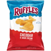 Ruffles Potato Chips Cheddar & Sour Cream Flavor Snacks