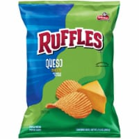 Ruffles Potato Chips Queso Cheese Flavor Snacks Bag