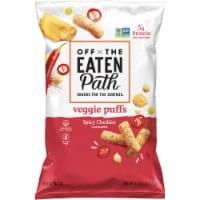 Off the Eaten Path Spicy Cheddar Veggie Puffs Snacks