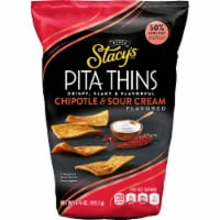 Stacy's Chipotle Sour Cream Pita Thins Baked Pita Chips Snacks 7.33 oz