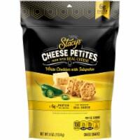 Stacy's Pita Chips White Cheddar Jalapeno Cheese Petites Snacks 4 oz