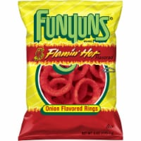 Funyuns Flaming Hot Onion Flavored Rings Snacks