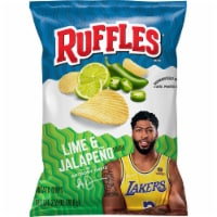 Ruffles Potato Chips Lime & Jalapeno Snacks