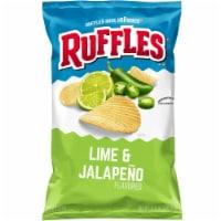 Ruffles Potato Chips Lime & Jalapeno Flavor Snacks Bag