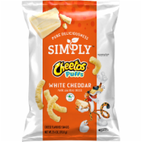 Cheetos Simply Puffs White Cheddar Flavored Cheese Puffs Snacks