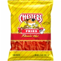 Chester's Fries Flamin' Hot Flavored Corn And Potato Snacks