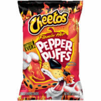 Cheetos Flamin' Hot Pepper Puffs Cheese Flavored Snacks
