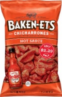 Baken-Ets Chicharrones Hot Sauce Flavored Fried Pork Skins