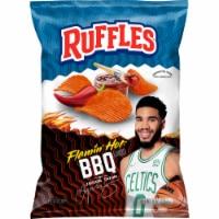 Ruffles® Flamin' Hot® BBQ Potato Chips - 8 oz