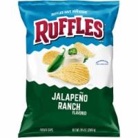 Ruffles Potato Chips Jalapeño Ranch Flavor Snacks Bag