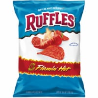Ruffles Potato Chips Flamin' Hot Flavor Snacks Bag
