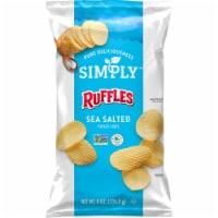 Ruffles® Simply™ Sea Salted Potato Chips - 8 oz