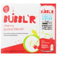 Bubbl'r Cherry Guava Blend'r Antioxidant Sparkling Water - 6 cans / 12 fl oz
