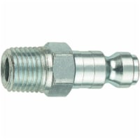 Tru-Flate  Steel  Air Plug  1/4 in. Male  1 pc. - Case Of: 1; Each Pack Qty: 1; - Count of: 1