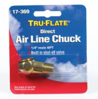 Tru-Flate  Brass  Air Line Chuck  1/4 in. Male  NPT  1 pc. - Case Of: 1; Each Pack Qty: 1; - Count of: 1