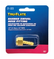 Tru-Flate  Brass  Barbed Swivel Fitting  1/4 in. Female  NPT  1 pc. - Case Of: 1; Each Pack - Count of: 1
