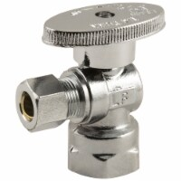 Plumbcraft® Fip Inlet OD Compression Outlet Turn Angle Valve - Silver