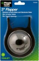 PlumbCraft® 3-Inch Toilet Flapper - Silver/Black - 1 ct