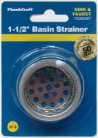 PlumbCraft® Stainless Steel Basin Strainer - Silver
