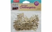 Leisure Arts Clothespins Wood 1  Mini Gold 36pc - 1