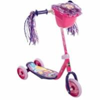 Huffy Disney Princess Kids Toddler Preschool 3 Wheel Kick Scooter with Basket - 1 Piece