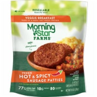 MorningStar Farms Veggie Breakfast Plant-Protein Hot and Spicy Meatless Sausage Patties - 8 oz