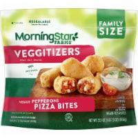 MorningStar Farms Veggitizers Frozen Veggie Vegan Pepperoni Pizza Bites Family Size - 23.5 oz