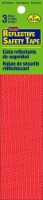 Hy-Ko 6-Inch Reflective Safety Tape Strips - Red