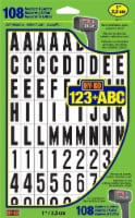 Hy-Ko Numbers & Letters - Black/White - 108 Pack - 1 in
