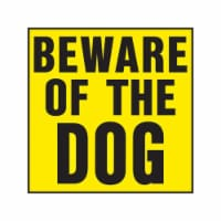 Hy-Ko English Yellow Informational Sign 11 in. H x 11 in. W - Case Of: 20; - Case of: 20