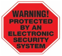 Hy-Ko English Warning! Protected by an Electronic Security System Sign Vinyl 5 in. H x 4 in. - Case of: 10