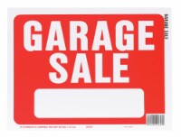 Hy-Ko English Garage Sale Sign Plastic 9 in. H x 12 in. W - Case Of: 10 - Case of: 10