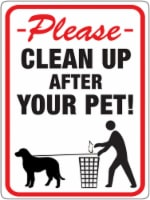 Hy-Ko English White Pet Sign 8.5 in. H x 12 in. W - Case Of: 10; - Case of: 10