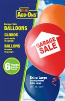 Hy-Ko Add-Ons Extra Large Garage Sale Balloons - 6 Pack - 18 in