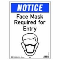 Hy-Ko English White Mask Needed Sign 10 in. H x 14 in. W - Case Of: 5; - Case of: 5