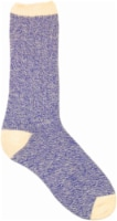 Amelia's Organic Legwear Women's Marled Body Crew Socks with Natural Tipping - Purple