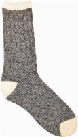 Amelia's Organic Legwear Women's Marled Body Crew Socks with Natural Tipping - Black