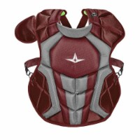 All-Star Sports S7 Axis Ages 9-12 Baseball Catcher Chest Protector, Magenta - 1 Piece