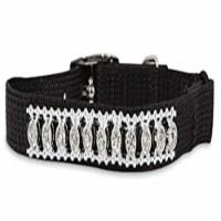 Aspen Pet 11392 8 x 0.37 in. Adjustable Jewel Cat Collar, Black