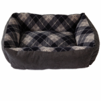 Aspen Pet Multicolored Plaid Micro Suede/Polyester Pet Bed 6 in. H x 20 in. W x 15 in. L -