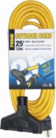 Prime Triple-Tap Outdoor Cord - SJTW 14/3 - Yellow