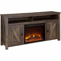 """Farmington Electric Fireplace TV Console for TVs up to 60"""", Rustic"""