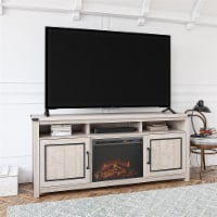 """Cedar Ridge Fireplace TV Stand for TVs up to 70"""", Rustic White"""
