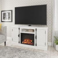 """Sienna Park Fireplace TV Stand for TVs up to 65"""", White"""