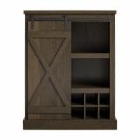Knox County Bar Cabinet, Brown Oak - 16.00 x 28.40 x 36.00