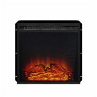 Ameriwood Home 18  x 18  Mesh Front Electric Fireplace Insert, Black - 5.00 x 19.21 x 18.07