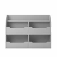 Mia Toy Storage Bookcase, Dove Gray
