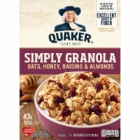 Quaker Simply Granola Oats Honey Raisins and Almonds Breakfast Cereal 28 oz