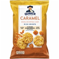 Quaker Rice Crisps Caramel Flavor Popped Snacks