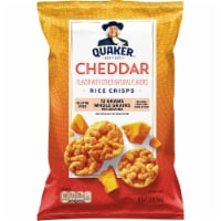 Quaker Rice Crisps Cheddar Flavor Popped Snacks